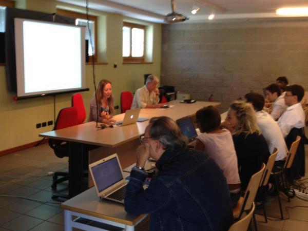 Una lezione della Summer School sul Datajournalism a Transacqua (TN) - Agosto 2012