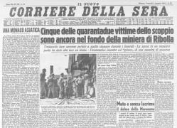 La strage di Ribolla sul Corriere della Sera